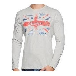 T SHIRT PEPE JEANS FLAG GRIS