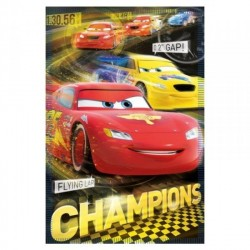 COUVERTURE POLAIRE ENFANT DISNEY CARS CHAMPION 100 X 140 CM