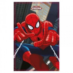 COUVERTURE POLAIRE ENFANT SPIDERMAN MARVEL ROUGE 100 X 140 CM