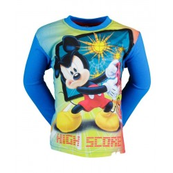 T SHIRT DISNEY MICKEY BLEU CIEL