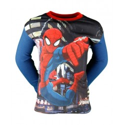 T SHIRT ENFANT SPIDERMAN BLEU