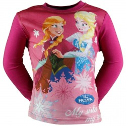 T SHIRT DISNEY REINE DES NEIGES FUSHIA