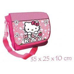 SAC A BANDOULIERE HELLO KITTY ROSE 35 CM
