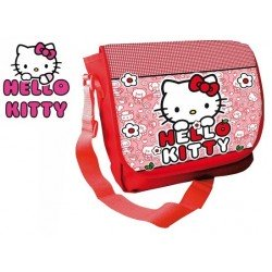SAC A BANDOULIERE HELLO KITTY ROUGE 35 CM