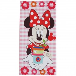 SERVIETTE DE PLAGE MINNIE CARREAU 70 X 140 CM