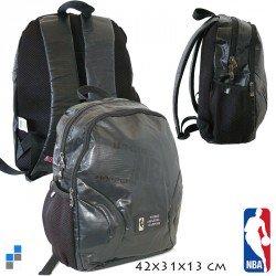 SAC A DOS NBA GRIS ET NOIR 42 CM