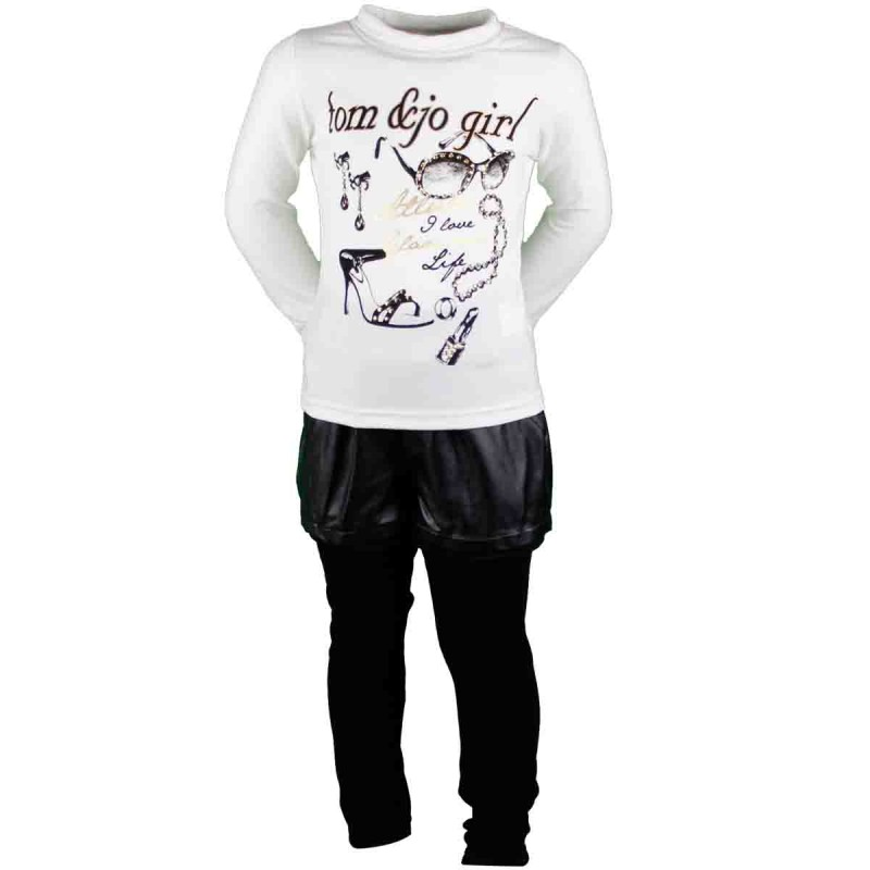 Hiver Fille Sky Vetements Pantalon Enfant Ensemble Shirt T Veste tqE8apz