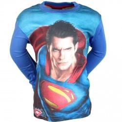 T SHIRT MANCHES LONGUES ENFANT SUPERMAN