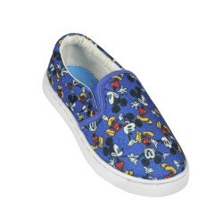 BASKETS ENFANT DISNEY MICKEY BLEU PRINTEMPS / ETE DU 31 AU 34
