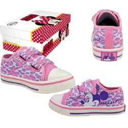 BASKETS ENFANT DISNEY MINNIE ROSE PRINTEMPS / ETE DU 31 AU 34