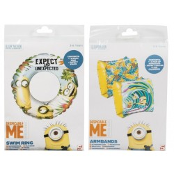 LOT BRASSARDS + BOUEE GONFLABLE DISNEY MINIONS