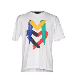 T SHIRT LOVE MOSCHINO BLANC M COLORS