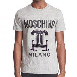 T SHIRT LOVE MOSCHINO MILANO CAPSULE GRIS
