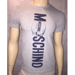 T SHIRT LOVE MOSCHINO COUTURE GRIS