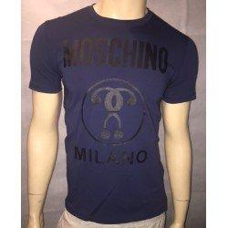 T SHIRT LOVE MOSCHINO MILANO BLEU