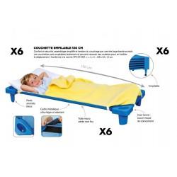 COUCHETTE EMPILABLE ENFANT 130 CM