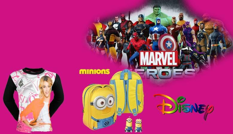 Vetements et accessoires pour enfants disney, minions, costumes marvel